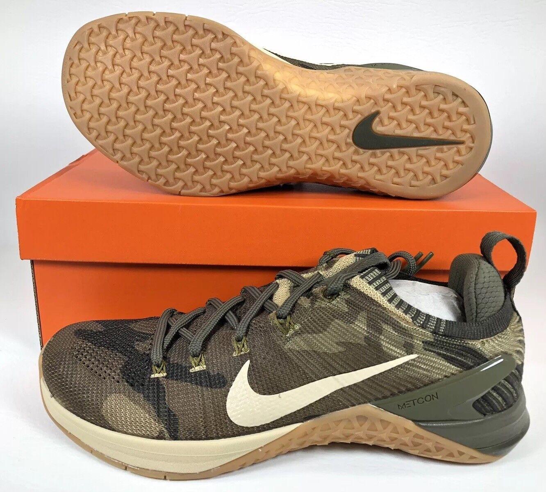 Nike Metcon DSX Flyknit 2 Men's Cross Training shoes SZ 10 Olive Camo 924423-300