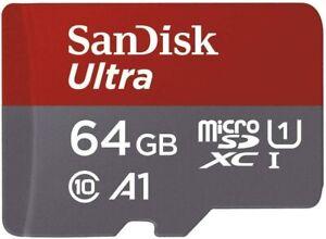 Sandisk Ultra Scheda di Memoria Microsdxc da 64 GB e Adattatore