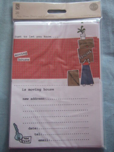 Moving House New Home Pack of 20 sheets and envelopes Change of Address