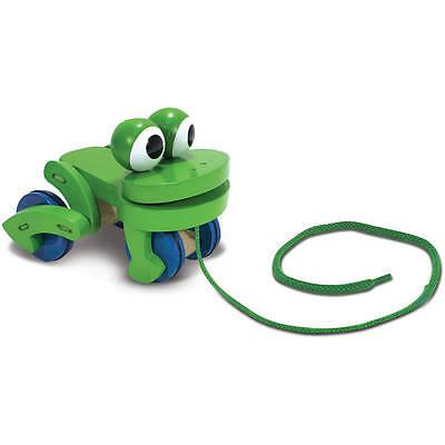 DETOA Wooden Pull Along Frog