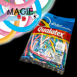 100 Ballons Qualatex Vibrant 260q - Magie - Sac Sculpture
