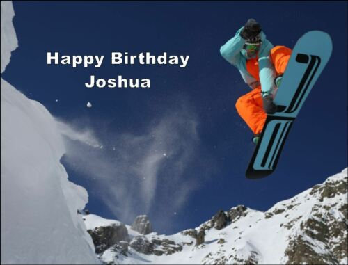A4 SNOW BOARD SPORTS EDIBLE ICING BIRTHDAY CAKE TOPPER