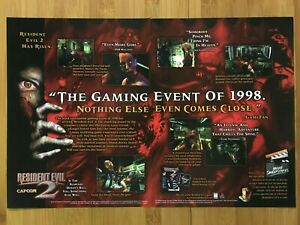 Resident-Evil-2-PS1-Playstation-1-1998-Vintage-Print-Ad-Poster-Official-Promo