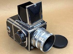 Zenith-80-Vintage-Russian-Soviet-Hasselblad-Camera-w-8cm-f-2-8-Lens-USSR-Nice