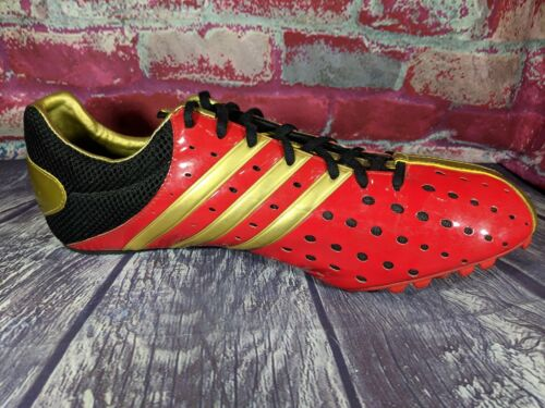 Rojo Flashy Mens Oro y Campo Meteor Spikes Pista 48 Adidas 13 Shoes Run Techstar qdIXB