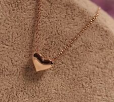 Beautiful Cute Gold Plated Heart Pendant And Chain Alloy Chokers necklace