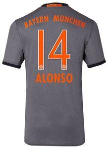 Alonso 14 Trikot Adidas FC Bayern 2016-2017 Away FCB 128 bis XXL