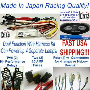 Led Dual Function Hi Low Auxiliary Fog Light Switch Wire Harness 2 Relays Ebay