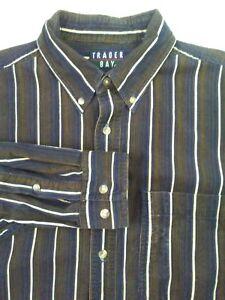 c697ac52f8903 Image is loading Trader-Bay-Long-Sleeve-Medium-Button-Down-Shirt-