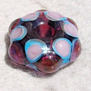 GNARLY-3-Handmade-Large-Hole-Glass-Bead-Flaming-Fools-Lampwork-Art-Glass-SRA