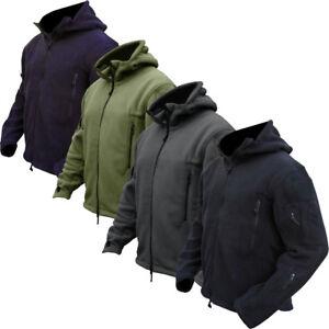Tactical-Military-Recon-Full-Zip-Fleece-Jacket-Army-Hoodie-Security-Heavy-Duty