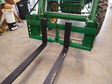 New 48 Pallet Forks Titan Mast Hay Spear Compatible Fits 553 Deere Loader