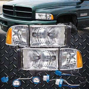 Conversion Headlights Left Right Kit Pair Fits 94 02 Dodge Ram Sport Pickup Ebay