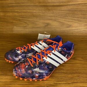 Details about Adidas Adizero Orange and Purple Track Spike Running Shoes Size 8 Or Size 7 1/2