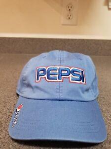 PEPSI Strapback Hat NEW Soda Pop Headwear Mens Cap AHEAD Extreme Fit ... 5dbc176811b