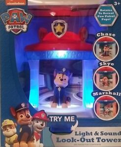 Nickelodeon Paw Patrol 3 in 1 light   Sound look-out Tower Kid Toys ... d0b83c3b0dc2