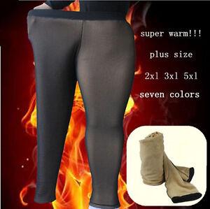 Women Plus Size 2X 3X 5X Fleece Lined Warm Thick Leggings Boots ...