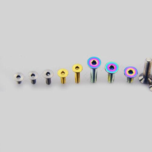 6pcs Titanium alloy M3 x 6//8//10//15mm Countersunk Hexagon Socket Head Screw Bolt