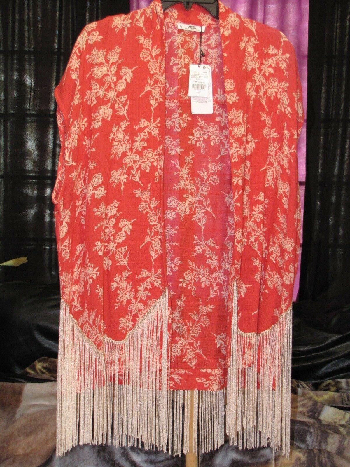 NWT MNG Casual Wear Women's Caftan Killyam orange Top One Size MSRP  75