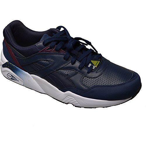 Puma R698 Atletismo Cuero Zapatillas hombre Trinomic Atletismo R698 Deporte Zapatos Azul Marino 3e26f1