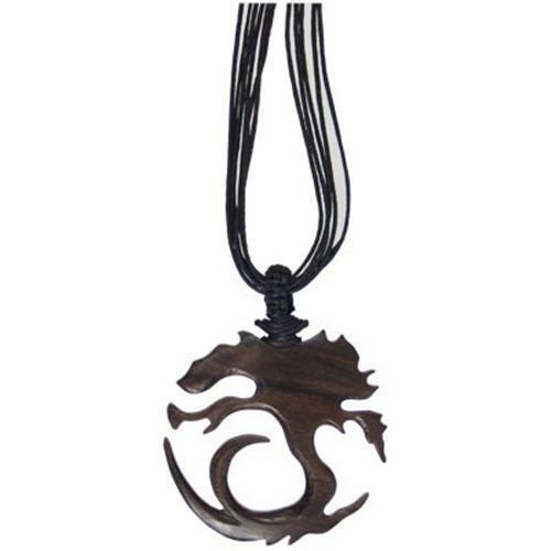 Carved Wood Tree of Life Pendant Choker Necklace!