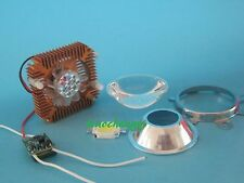 1pcs 10W Cool White  High Power LED + 10Watt Driver + 50mm Lens+10w Heatsink
