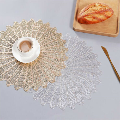 Spoon Pad Placemat Party Decor Table Pad Plate Mat Kitchen Hollow Round Coaster