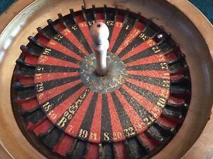 Roulette Casino Game-Wooden Raj Era Antique, circa 1890's