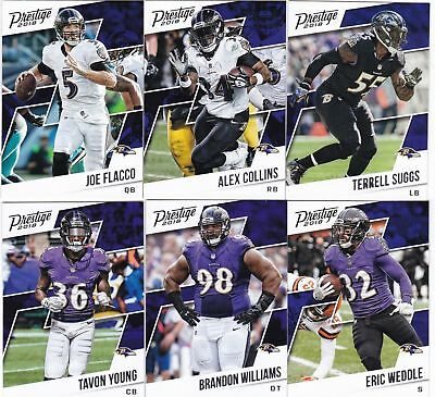 ravens Joe Flacco!!! équipe set!! 10 CARDS!! 2016 panini DONRUSS
