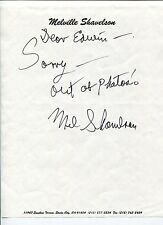 Melville Shavelson Houseboat Yours Mine and Ours 2x Oscar Nom Signed Autograph