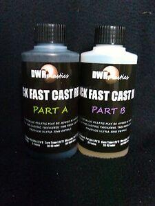 Black-Fast-Cast-Polyurethane-Liquid-Plastic-Casting-Resin-250g-230ml-litre-Kit