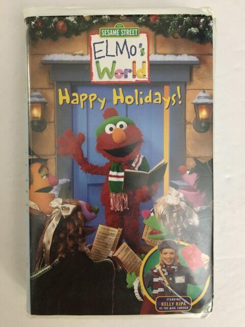 Elmos World Happy Holidays Vhs 2002