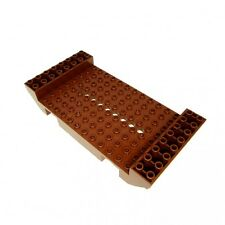 1 x Lego Schiff Mittelstück Boot Rumpf rot braun 8x16x2 9 Löchern  7018 2560