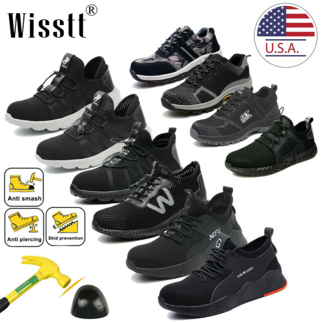 2a51a876612 Mens Safety Indestructible Steel Toe Work Boots Hiking Slip Resistant Shoes  Size