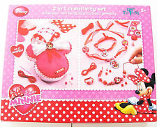 2in1 kreativ set Minnie Mouse Disney Totum OVP Schmuck Tasche pink rosa rot 5J+