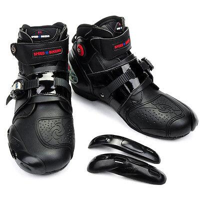 Men's Motorcycle Boots Waterproof MX GP Off Road Racing Moto Leather Shoes Black