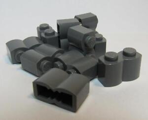 LEGO Lot of 10 Black 1x2 Log Brick Pieces