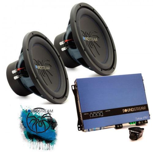 Soundstream Double 30.5cm Sub Woofer Basse Amplificateur Auto Audio Paquet Offre