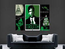 X FILES SERIE TV Show IO VOGLIO CREDERCI Muro Poster ART PICTURE PRINT Grande