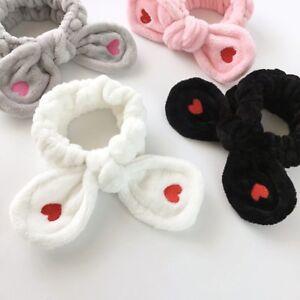 Big Rabbit Ear Soft Headband Women Towel Hair Band Spa Make Up Girls ... 7901840f4fe4