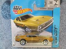 Hot Wheels 2014 #094/250 1971 Ford MUSTANG MACH 1 gold HW CITY