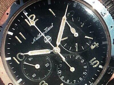 Enicar Jetgraph Hands Hour Minute Second GMT Valjoux 72 NOS