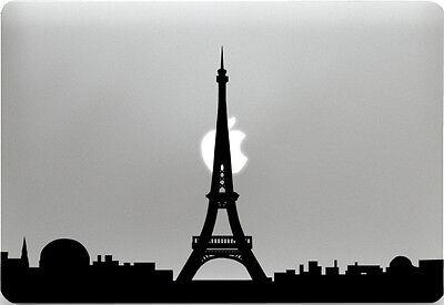 Apple MacBook + PARIS + Aufkleber Sticker Skin Decal + Frankreich Skyline