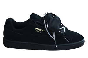 Trainers Up Satin Womens Heart Puma Black Ii Lace Suede Shoes b7y6Yfg