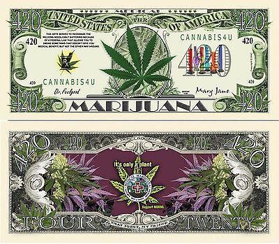 Colorado 420 Recreational Marijuana Cannabis Million Dollar Bill FREE SLEEVE