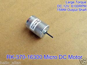 Dc 12v 6100rpm Mini 370 Motor Carbon Brush Large Torque
