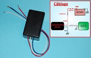 Transformateur convertisseur 6v en 12v 1A miniature : idéal pour GPS