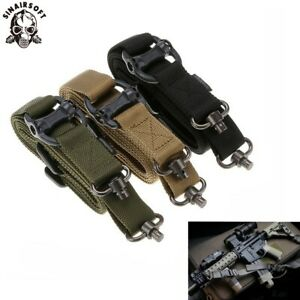 Tactical-Quick-Detach-QD-1-Or-2-Point-Multi-Mission-1-2-034-Rifle-Gun-Sling-Adjust