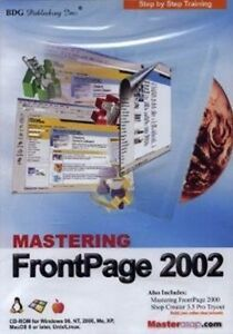 Details about Mastering Microsoft FRONTPAGE 2002 Software Training Tutorial  Brand New Sealed