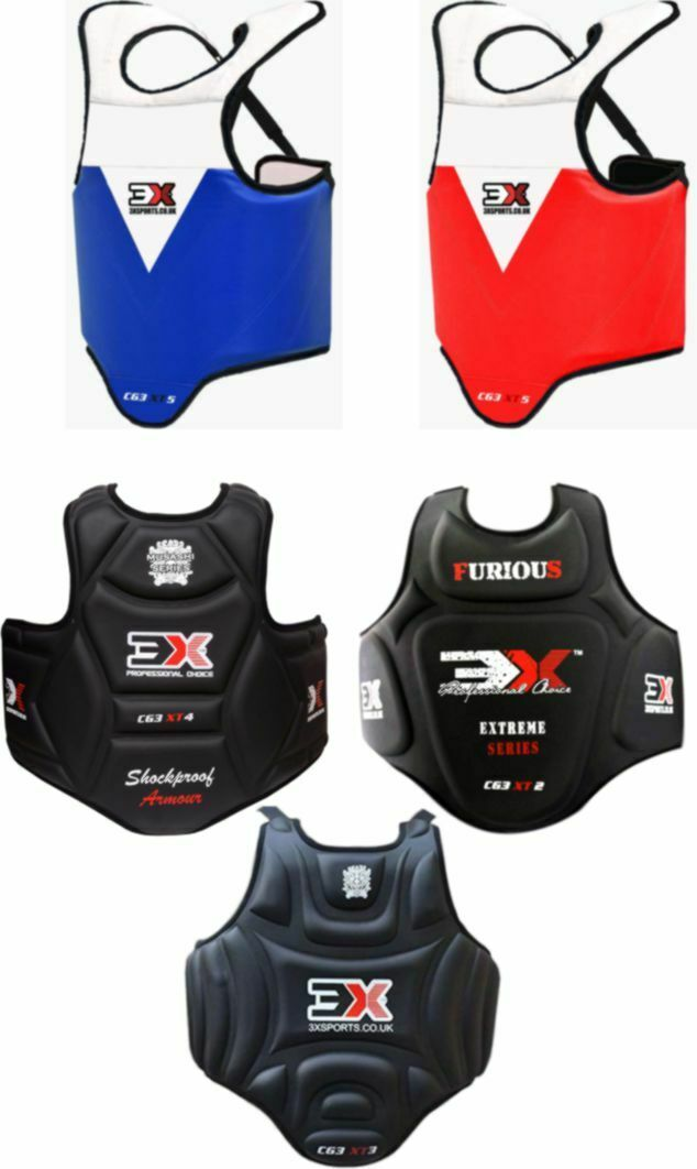 Boxing Chest Guard Body Protector Training Kickboxing Sports Armour Shield S